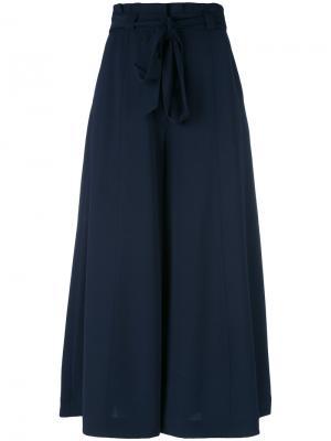 Расклешенные брюки с поясом Perseverance London. Цвет: синий