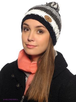 Шапка Viking caps&gloves. Цвет: серый, белый, черный