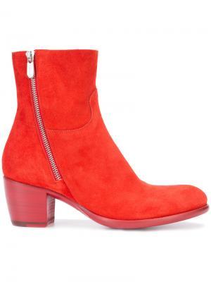 Ботинки на молнии сбоку Rocco P.. Цвет: красный