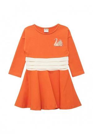 Платье Ёмаё. Цвет: оранжевый