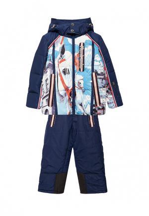 Комплект брюки и куртка Radrada. Цвет: синий
