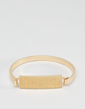 Icon Brand Золотистый браслет с жетоном премиум-класса. Цвет: золотой