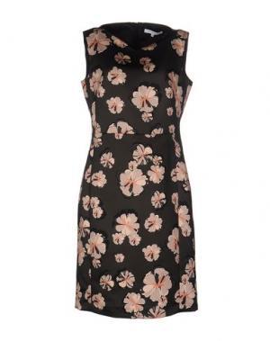 Платье до колена GERARD DAREL. Цвет: темно-коричневый