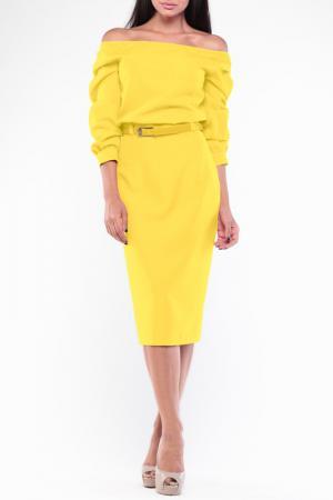Платье Dioni. Цвет: солнечный