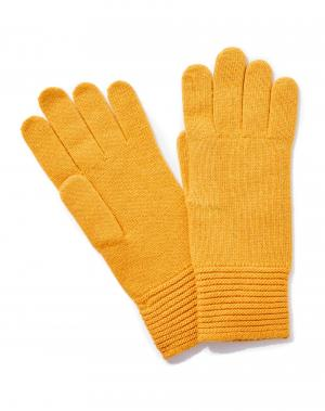 Перчатки Benetton. Цвет: желтый