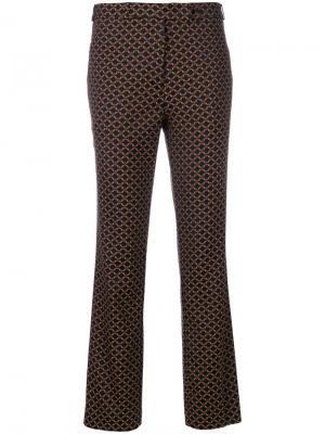 Строгие брюки с вышивкой Etro. Цвет: многоцветный