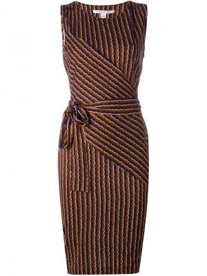 Платье Ashlie Diane Von Furstenberg. Цвет: многоцветный