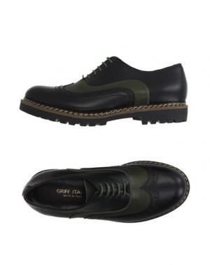 Обувь на шнурках GRIFF ITALIA. Цвет: темно-зеленый