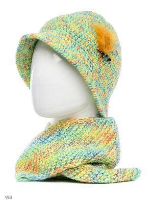 Шляпа Попугайчик ТТ. Цвет: светло-зеленый, оранжевый