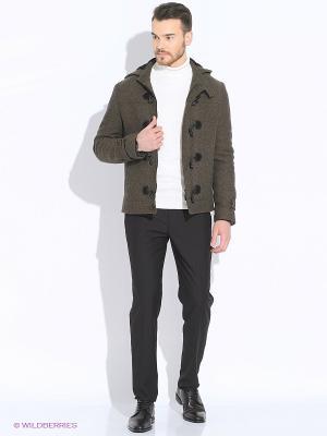 Пальто Absolutex. Цвет: коричневый
