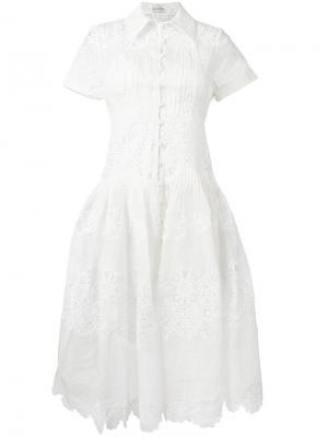 Платье с вышивкой ришелье Winsome Zimmermann. Цвет: белый
