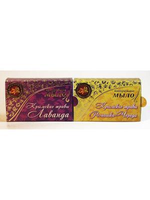 Набор натуральное мыло крымские травы 2 Крымская Натуральная Коллекция. Цвет: белый