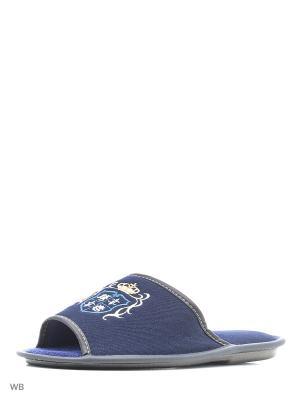 Тапочки PANTOLETTI. Цвет: синий