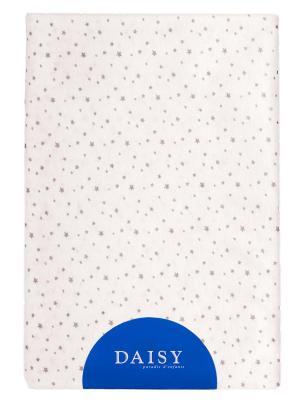 Пеленка Трикотаж 90х120 Звездочка DAISY. Цвет: серый, кремовый