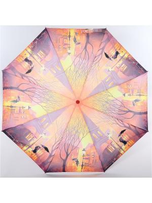 Зонт Zest, 3 слож, ПолнАвто, П-Э Zest. Цвет: черный, индиго, светло-желтый
