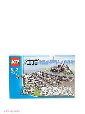 Игрушка Город Железнодорожные стрелки,номер модели 7895 LEGO. Цвет: серый