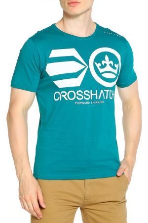 Футболка CROSSHATCH. Цвет: синий