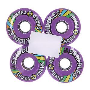 Колеса для скейтборда лонгборда  Skiddles Wheels Purple 78A 70 mm Sector 9. Цвет: фиолетовый