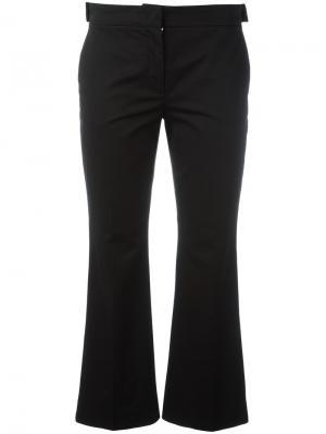Расклешенные укороченные брюки Nº21. Цвет: чёрный