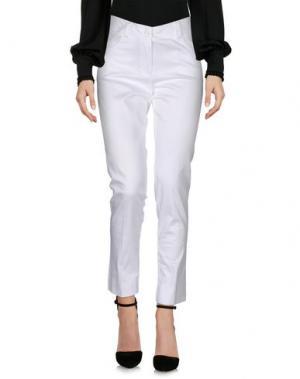 Повседневные брюки EDAS. Цвет: белый