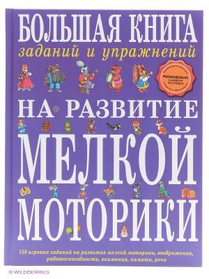 Большая книга заданий и упражнений на развитие мелкой моторики Эксмо. Цвет: фиолетовый