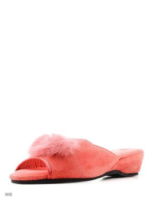 Тапочки FERENTO. Цвет: коралловый