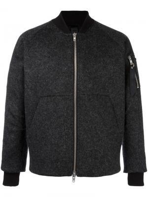 Куртка-бомбер Lazer Cut Odeur. Цвет: серый