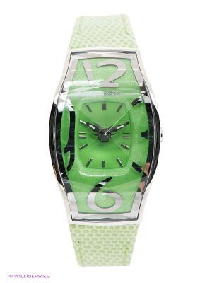 Часы Chronotech. Цвет: светло-зеленый, серебристый