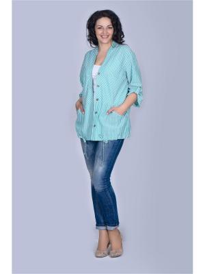 Блузка Лагуна. Цвет: бирюзовый