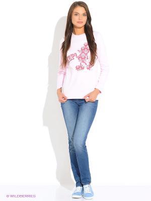 Лонгслив RHS. Цвет: бледно-розовый