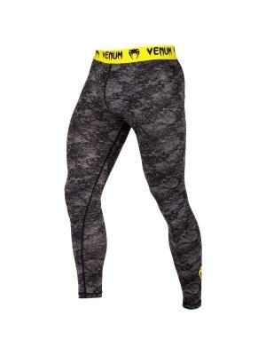 Компрессионные тайтсы Venum Tramo Black/Yellow. Цвет: черный,желтый