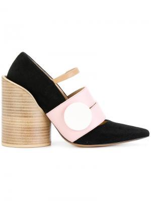 Туфли на массивном каблуке Jacquemus. Цвет: чёрный