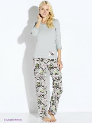 Пижама PELICAN. Цвет: светло-серый