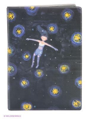 Обложка для паспорта Девочка ночью Mitya Veselkov. Цвет: черный