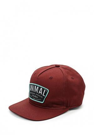 Бейсболка Animal. Цвет: бордовый