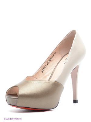 Туфли Sinta Gamma. Цвет: светло-серый, молочный