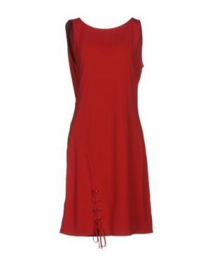 Короткое платье HALE BOB. Цвет: кирпично-красный