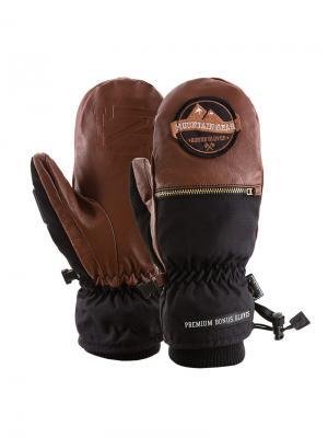 Варежки Bonus Gloves. Цвет: коричневый