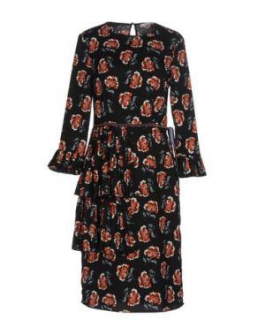 Платье до колена KORALLINE. Цвет: черный
