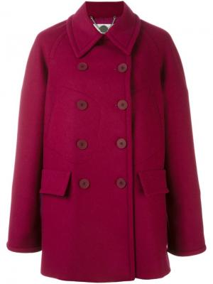 Бушлат с карманами Stella McCartney. Цвет: розовый и фиолетовый