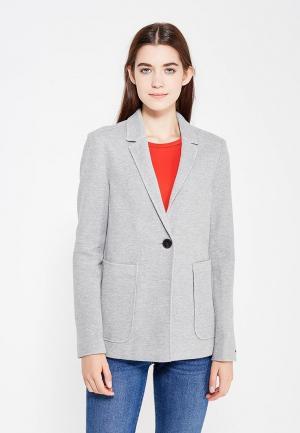 Пиджак Tommy Hilfiger Denim. Цвет: серый