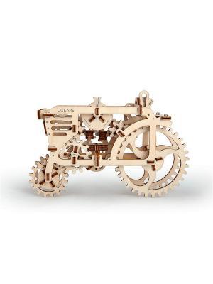 Конструктор 3D-пазл Ugears - Трактор. Цвет: светло-желтый