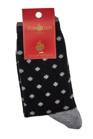 Черные носочки в горох Pom D'Api. Цвет: черный
