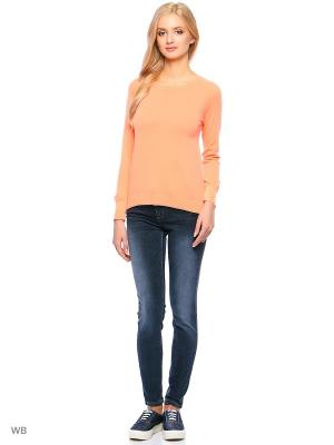 Лонгслив United Colors of Benetton. Цвет: оранжевый