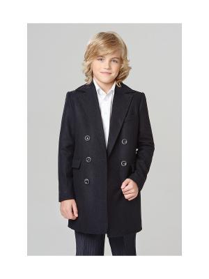 Пальто классическое MORU. Цвет: темно-синий
