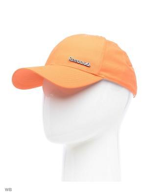 Бейсболка Reebok. Цвет: оранжевый