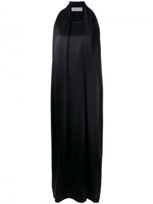 Длинное платье без рукавов Gianluca Capannolo. Цвет: чёрный