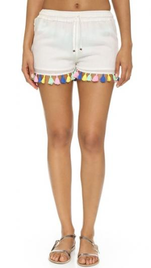 Пляжные шорты Fiesta Bindya. Цвет: белый