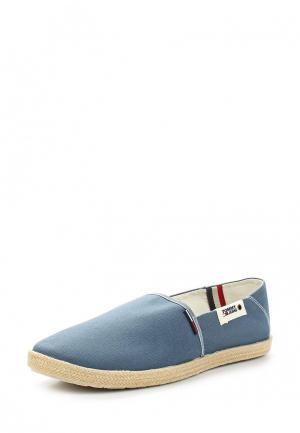 Эспадрильи Tommy Jeans. Цвет: голубой