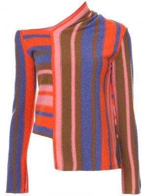 Полосатый асимметричный свитер Peter Pilotto. Цвет: многоцветный